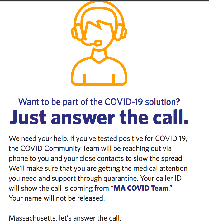 "COVID-19 Community Tracing Team: ""Just answer the call"""