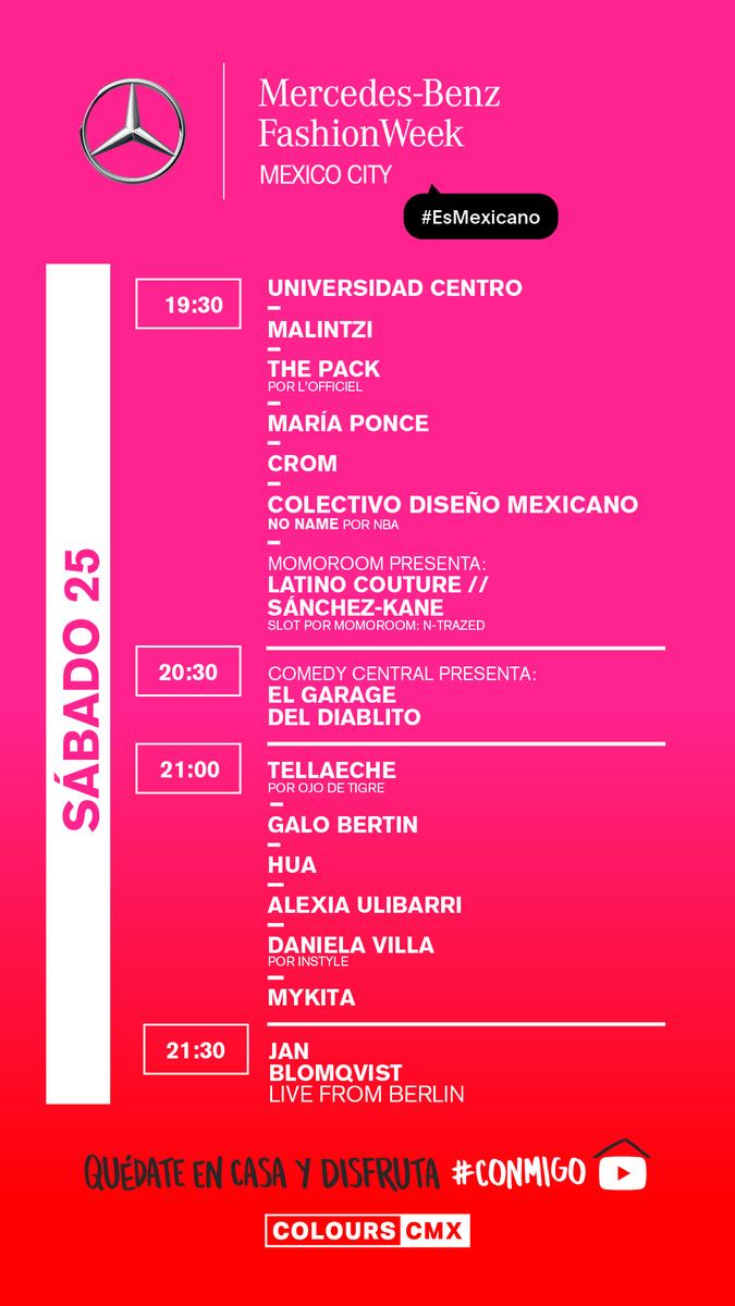 ¿Listos para el segundo día de Mercedes-Benz Fashion Week Mexico City?  @fashionweekmx  *No te pierdas lo mejor de la moda mexicana y los talentos detrás de cada colección en https://t.co/6AHhFWV2Vb #MBFWMx https://t.co/x72NrRNSqQ