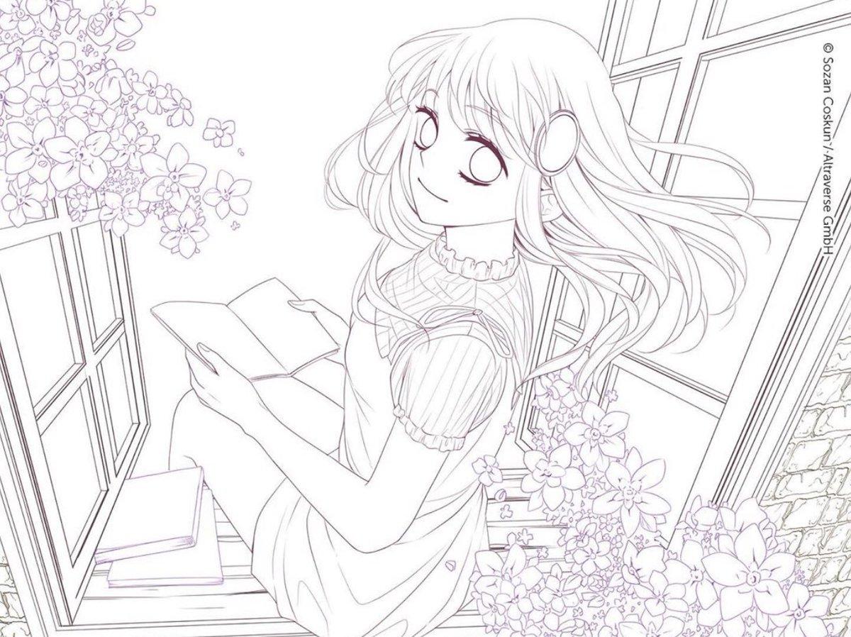 """Anime on Twitter: """"Ich hab mich mal am Ausmalen von Mai probiert"""