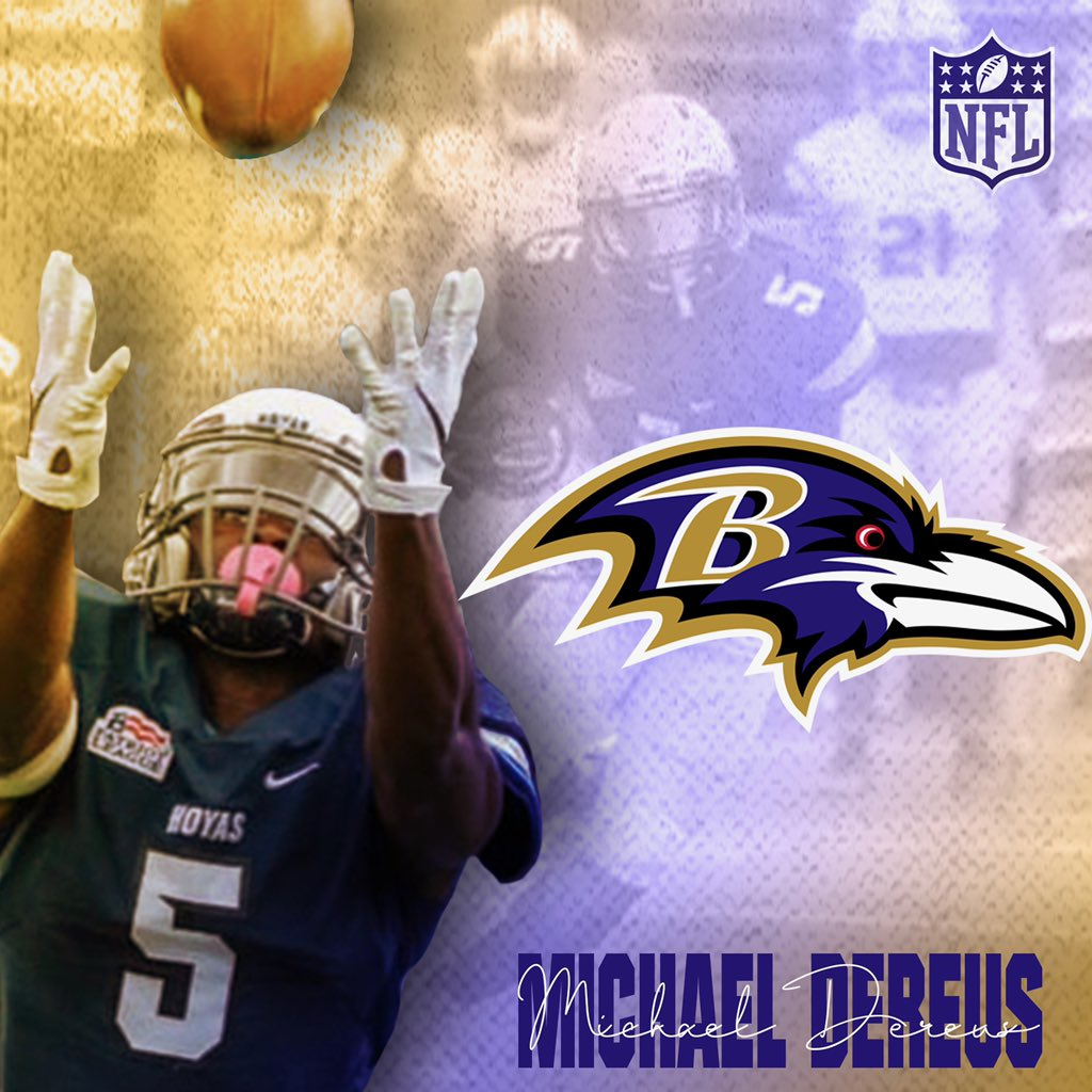 🚨SIGNED🚨Congrats to @MichaelDereus_5 on signing a free agent contract with the Baltimore @Ravens!! #HoyaSaxa #DefendtheDistrict #ProHoyas