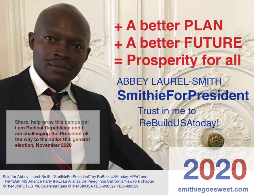 SmithieForPresident 2020: A better plan, a better future… https://t.co/mgIhGiuZH6 https://t.co/RwZoDzZ9C7