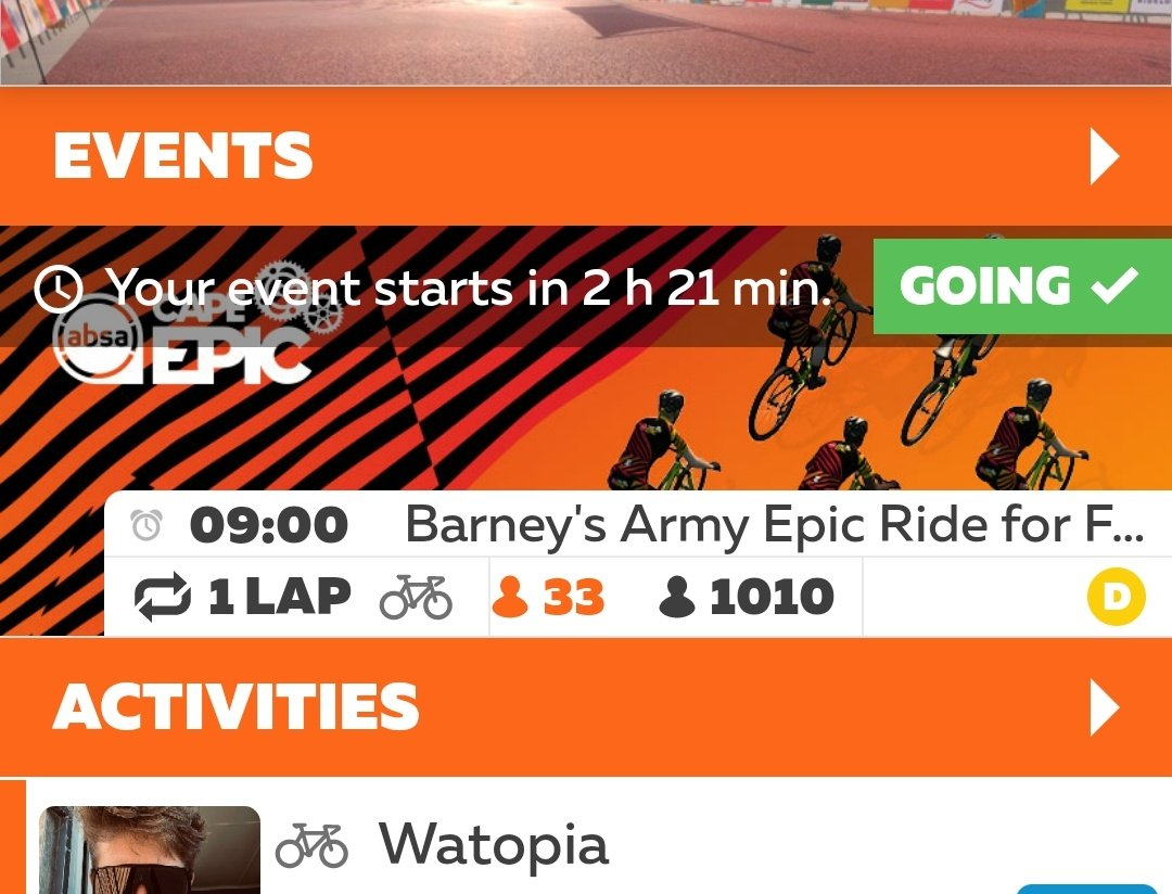 Join over 1,000 riders this morning for an Epic Ride For Food fundraiser - final call to arms (or legs more accurately)! 8am UK time 9am South Africa time Sign up at @GoZwift here... zwift.com/events/view/64… R110,000 raised already...thats almost 1,900 food parcels!