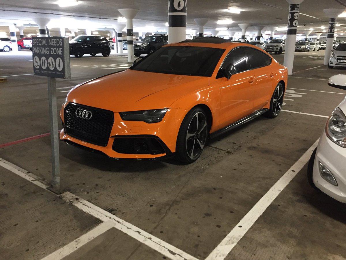 Orange Audi Rs7
