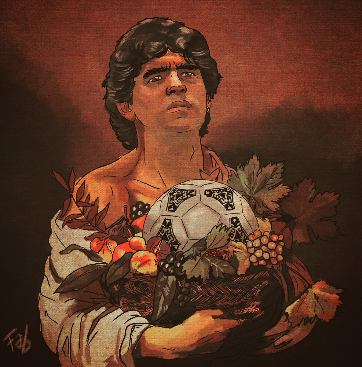 When Art meets Football. A young Diego Maradona painted by Caravaggio. #diego #d10s #footballart https://t.co/UDeDIE8MZo