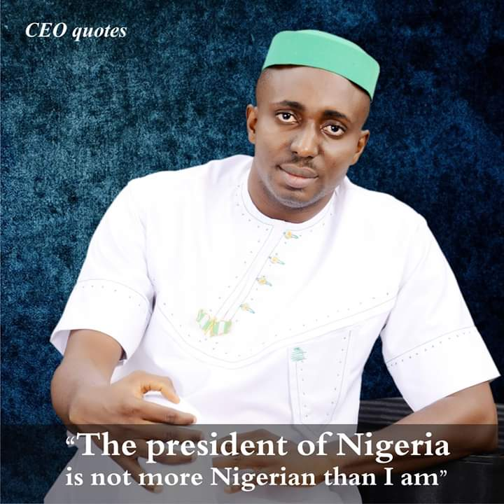"""Your role as a citizen starts the very moment you acknowledge this:  """"The President of Nigeria is not more Nigerian than I am - CEO.  #CEOQUOTES #CEOMEDIA #Nigeria #Buharipic.twitter.com/kLDw5xj8LH"""
