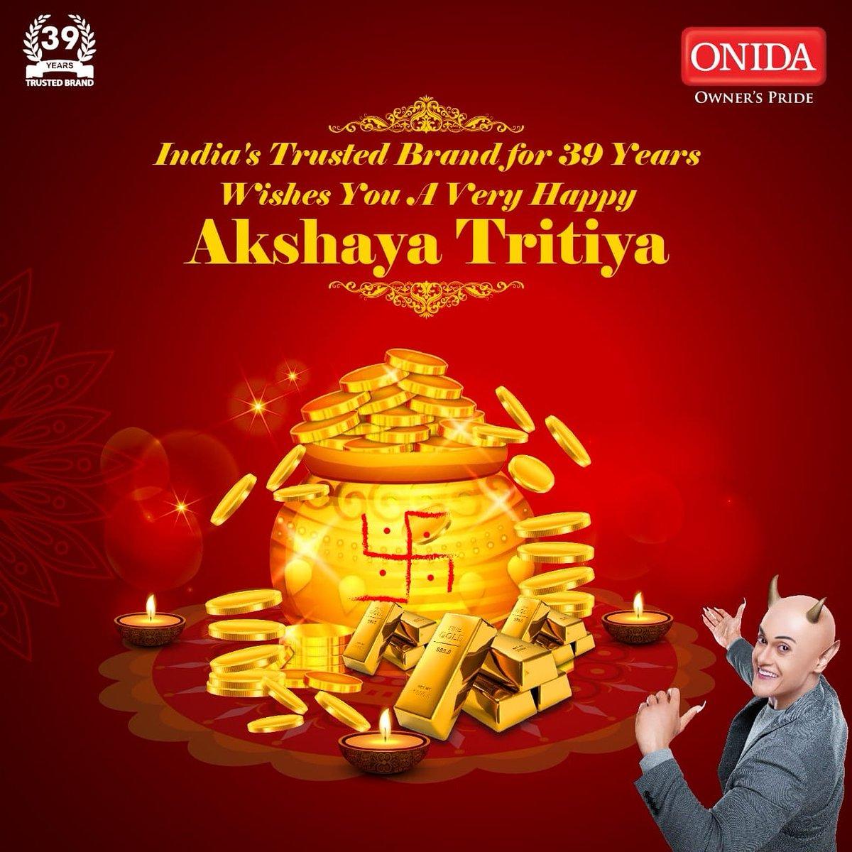 May this Akshaya Tritiya, light up for you. The hopes of happy times and dreams for a year full of smiles! Wishing you a very Happy Akshaya Tritiya. #HappyAkshayaTritiya https://t.co/oB6JqngzMA
