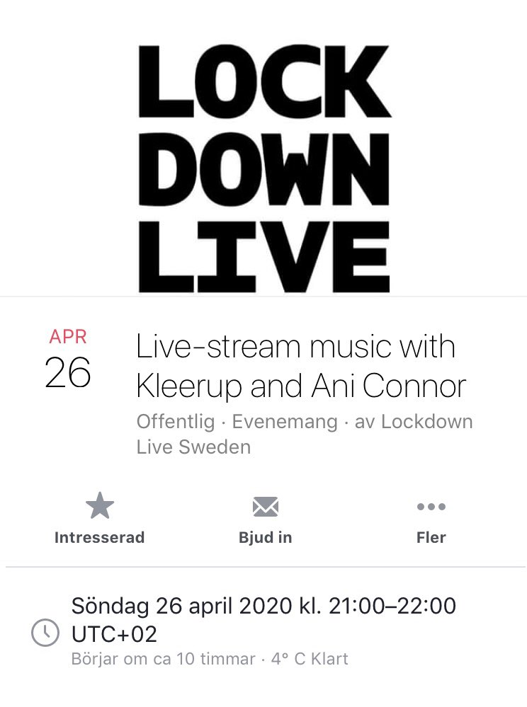 Tune in tonight! #lockdownlive