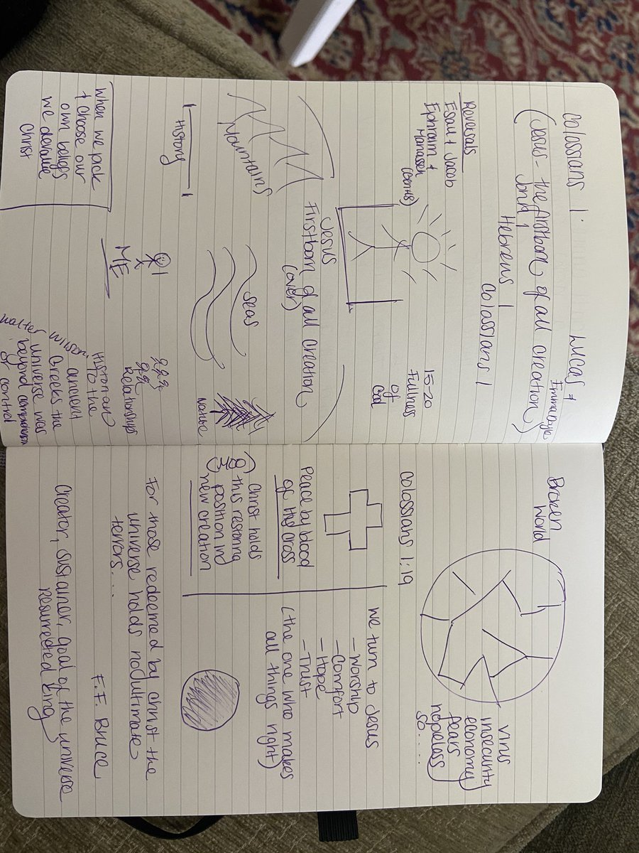 Sunday morning notes on Christ, king of creation from our online teaching from @tubestationcrew today.