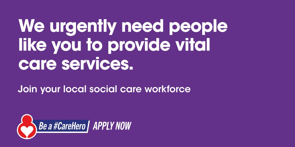 test Twitter Media - There are 100s of vital social care jobs to fill across the north west.  We urgently need people like you to help provide vital care services in #StHelens.  Apply now now and be a #CareHero.  Apply here ➡️ https://t.co/5orkDgRQkw https://t.co/wy5XH6UVgn