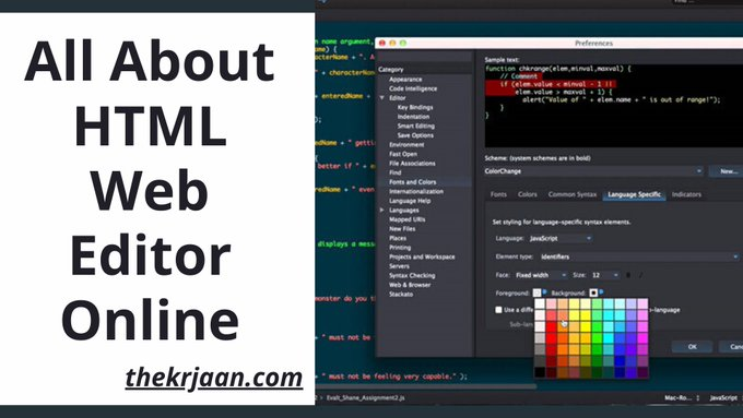 HTML Editor |  All About HTML Web Editor Online