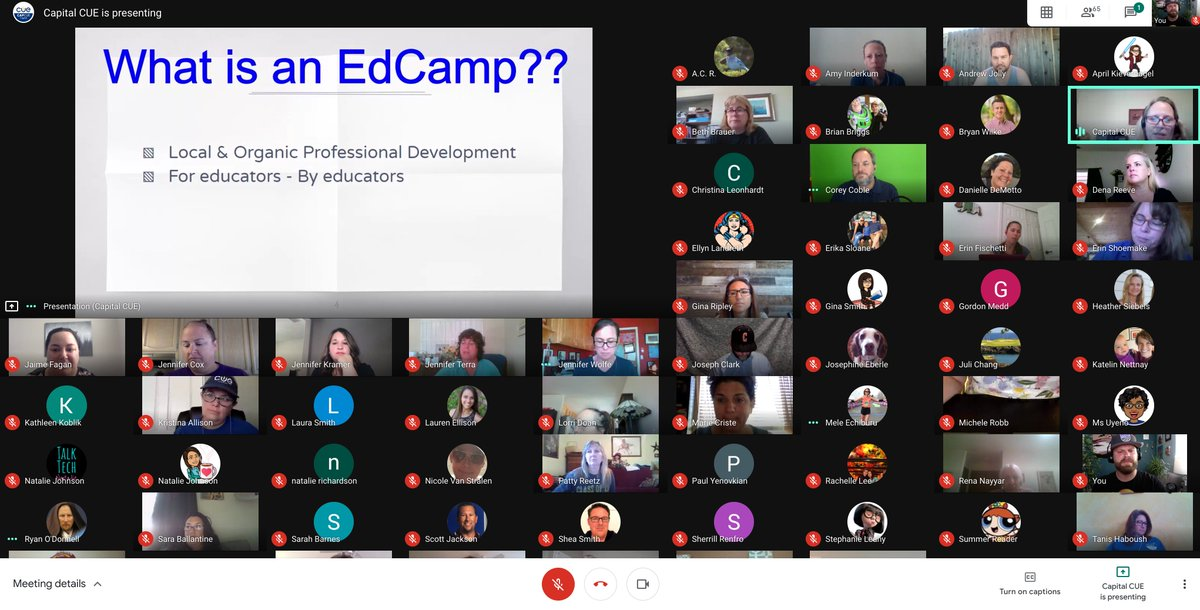 The @capcue virtual #edcamp is live with over 60 people! Hop in and join the fun! Itll be going until 12pm PST. docs.google.com/document/d/1WT… #WeAreCue #CapCuePLN #PDinYourPJs