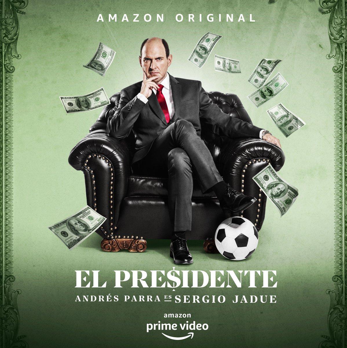"""Amazon Prime Video Latinoamérica on Twitter: """"Hoy cumple años el Presidente. ¿Qué se le regala al hombre que le robó a la FIFA ⚽️ ?? Próximamente, #ElPresidenteTV… """""""