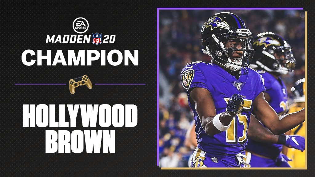 Hollywood Brown, Madden 20 Champion