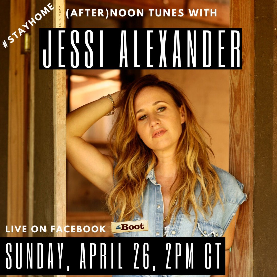 Join me for a little country music Sunday soul revival live from my porch at 2pm CT on @thebootdotcom's Facebook page... can't wait to see y'all!! #stayhome #afternoontunes #noontunes