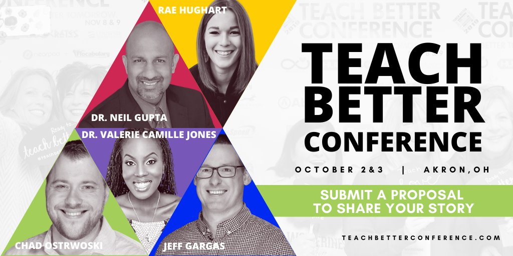 Proposals are open. Its time to share your story.   Just so you are aware, Session Submissions are open for educators to submit a proposal to share their story at Teach Better Conference 2020.   Details at  #TeachBetter20 #TeachBetter19 #TeachBetter