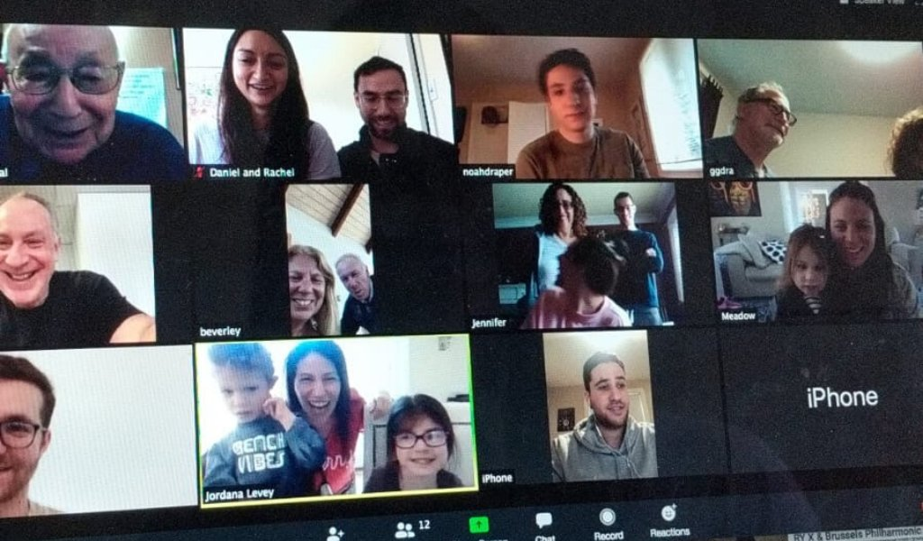"""When Mendel Good turned 95, his 3 kids, grand kids and great-grand kids were on hand to sing """"Happy Birthday - via a video call 🥳 @Baycrests e-visiting program is helping families stay connected and celebrate milestones together, such as turning 95! bit.ly/2VVeofR"""