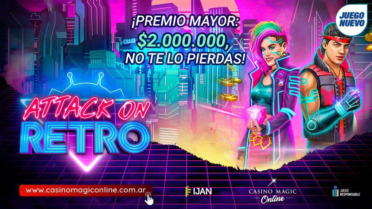 #AttackOnRetro Nuevo juego en https://t.co/o7pDURXJcX  #JugaSeguro #JugaLegal  #CasinoMagic #Neuquen Todo lo que imaginabas y MÁS! https://t.co/G5nApyfict https://t.co/qTl6nXL9qi