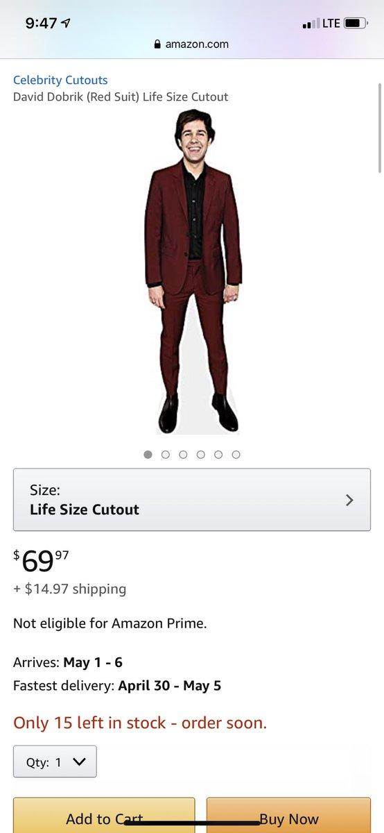 Red Suit David Dobrik Life Size Cutout