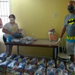 Image for the Tweet beginning: Continuing food distribution, masks and
