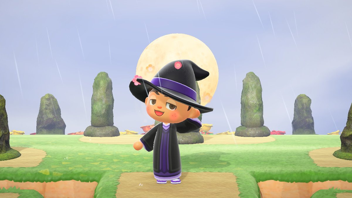 Ceebie Jeebies On Twitter I Made A Robe For The Purple Witch Hat Animalcrossing Acnh Nintendoswitch