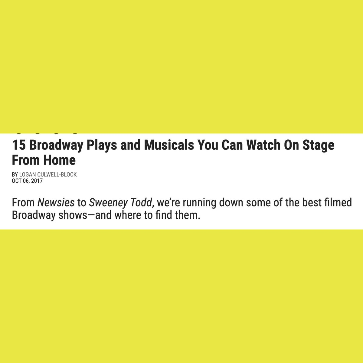 Playbook has your back with these 15 filmed Broadway shows! We miss the performing arts concert series just as much as you do. https://t.co/TROvI7gpQk https://t.co/5ht4IIPIQ4