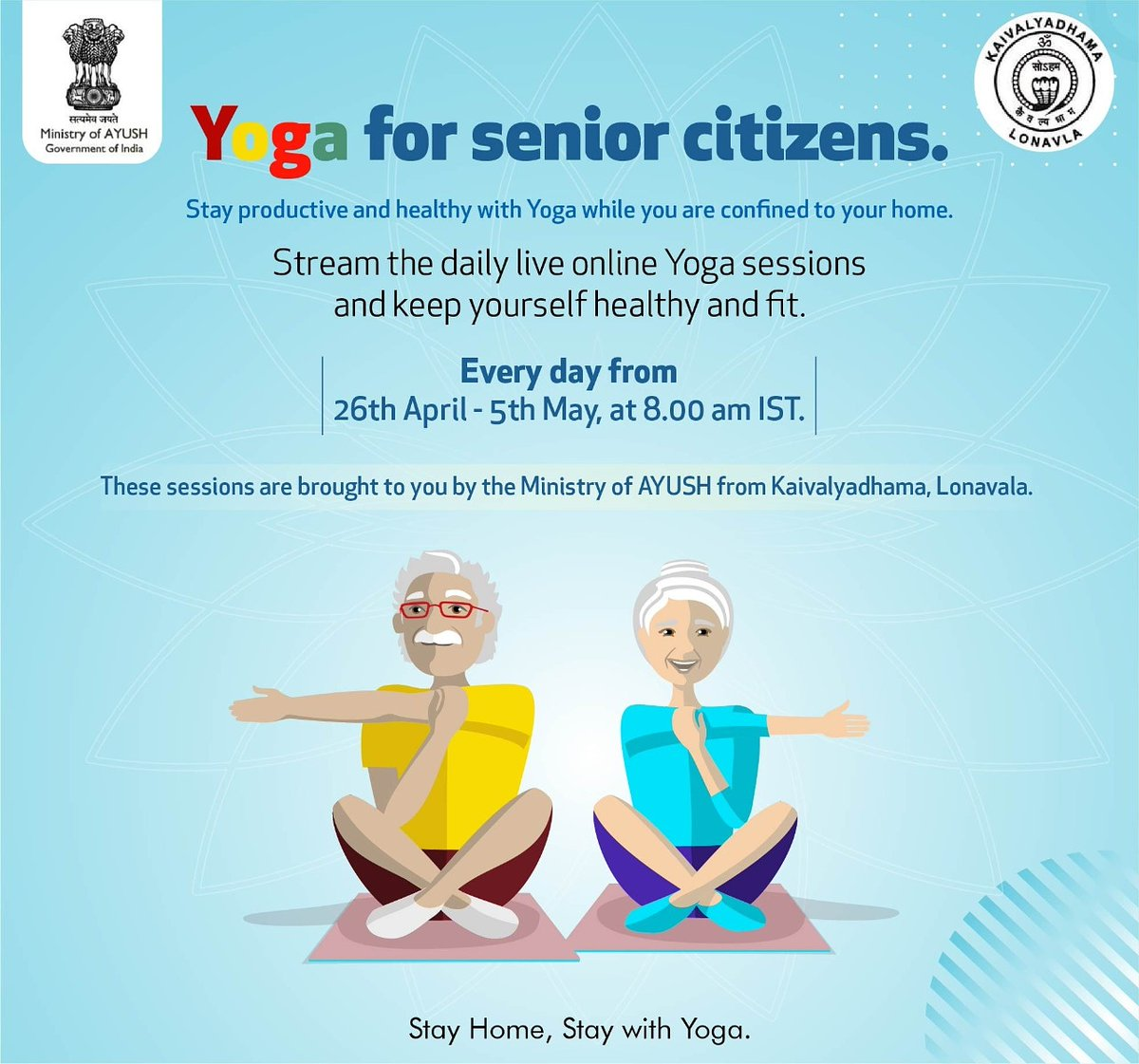 Ministry Of Ayush On Twitter The Ministry Of Ayush Is Happy To Present Yoga Sessions For Senior Citizens Practice Yoga Daily With The Help Of These Videos Brought To You By The