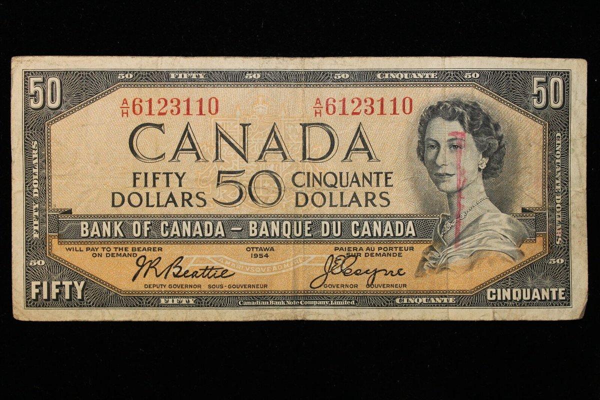The Coin Hunter On Twitter 1954 Canada 50 Fifty Dollars Series A H Beattie Coyne Https T Co Bzaykqw2tz