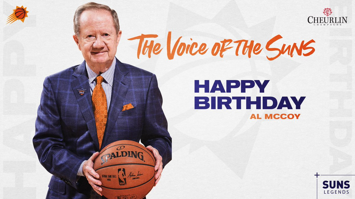 Happy Birthday to the Voice of the Suns, Al McCoy! 🎙 https://t.co/ADIXX4N0ig