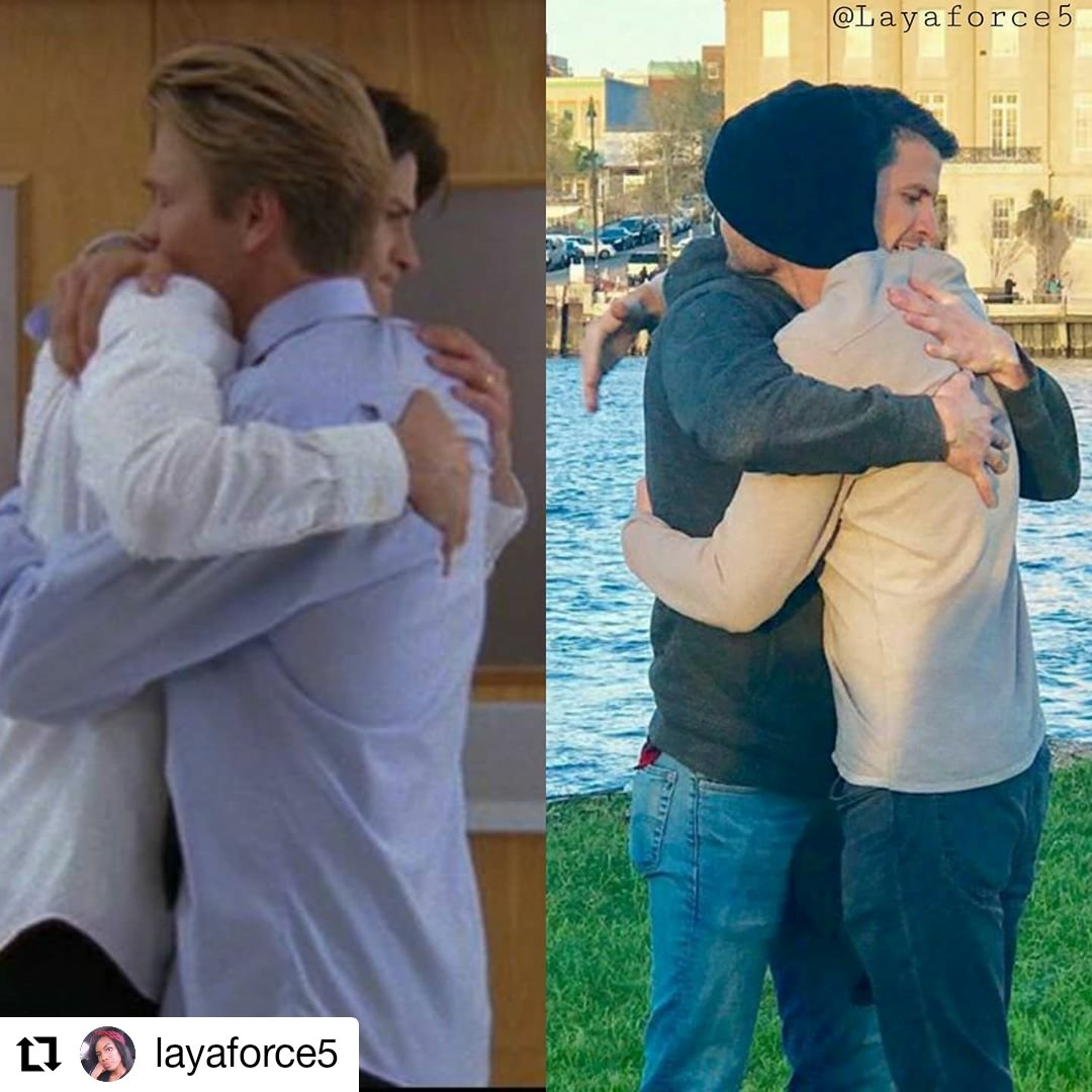 Thee actual heck.  Nathan Scott and Lucas Scott  ....James Lafferty and Chad Michael Murray.  The best tv bros to ever do it.  And that's that on that. #naley #nathanscott #haleyjamesscott #oth #jameslafferty #joylenz #bethanyjoylenz #onetreehillpic.twitter.com/i2L8syhUKE