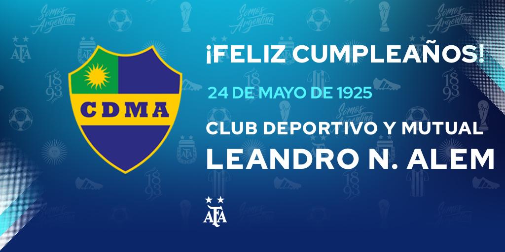 #FelizCumple para @LNALEM_ok. La Asociación del Fútbol Argentino les desea muchas felicidades 🎉