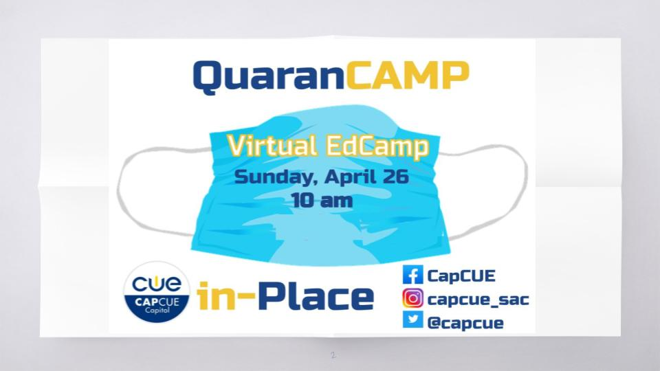 First ever CapCUE Virtual Edcamp in the books! THANK YOU to all the educators who joined us for some #SundayPD @tanis4h @theabeea @PamOien #capcuepln #wearecue