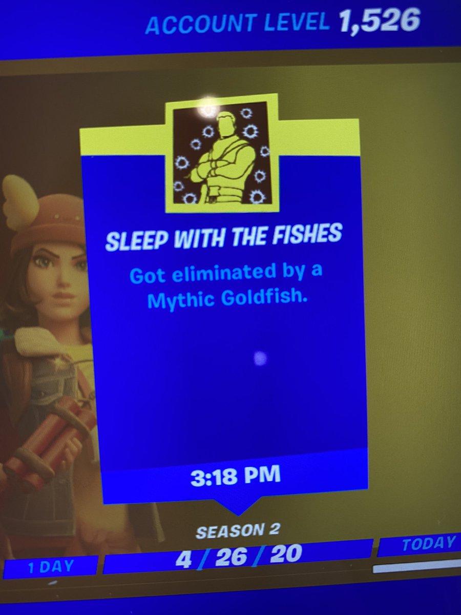 I earned the @FortniteGame achievement I'm most proud of today 😂😂😂  #mythicfish #Fortnite #FortniteBR #fortnitemythicfish https://t.co/BFFUVJnXl0