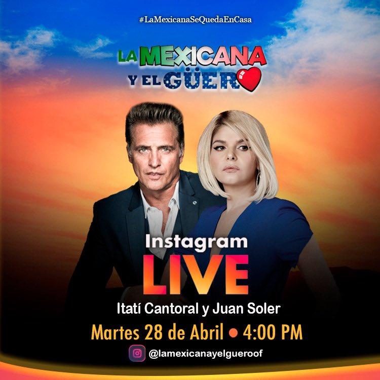 No se pierdan esta entrevista el martes por Instagram @lamexicanaguero 👍 https://t.co/qc7gd5Avln