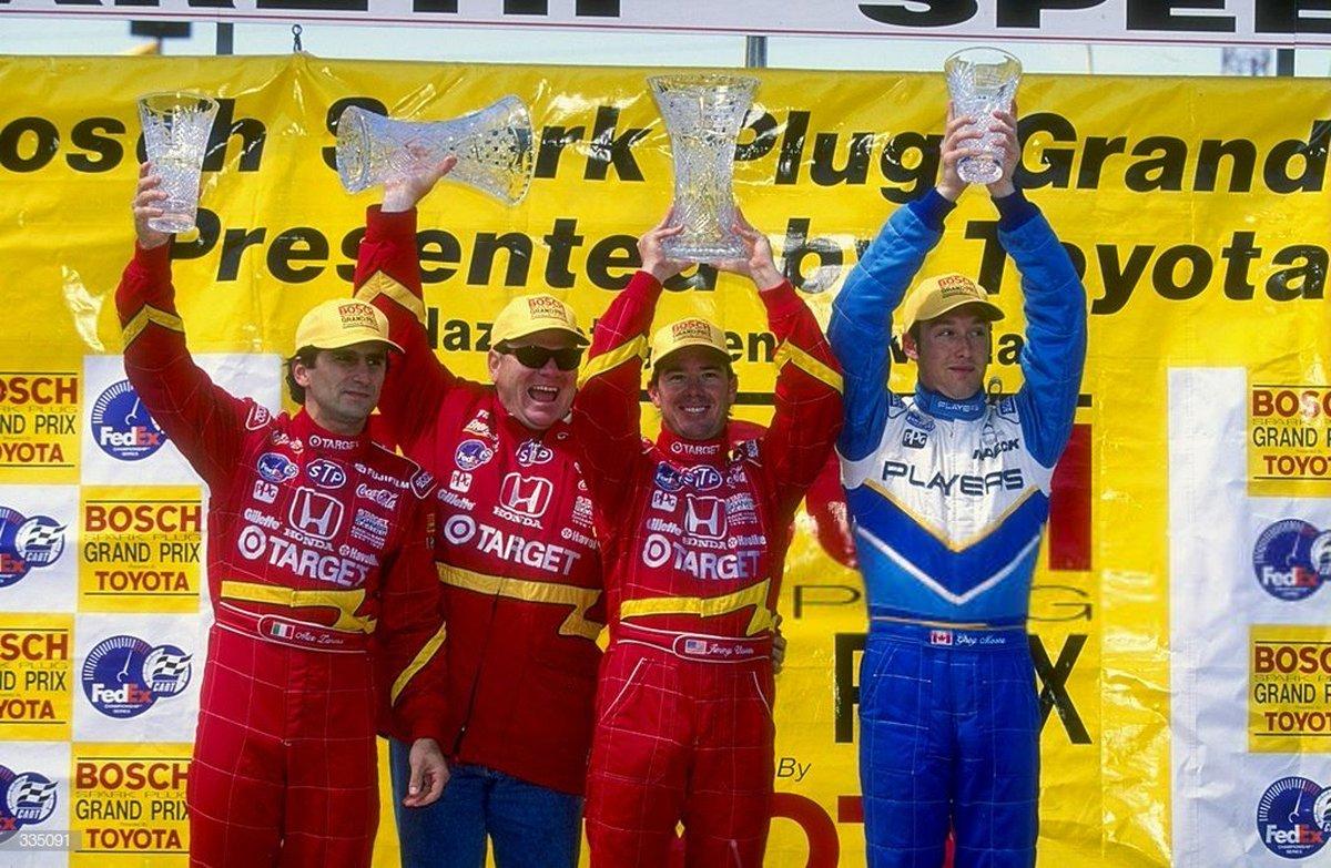 22 years ago today, Jimmy Vasser won the 1998 Bosch Spark Plug Grand Prix @ Nazareth. https://t.co/kzGvRrP7oJ