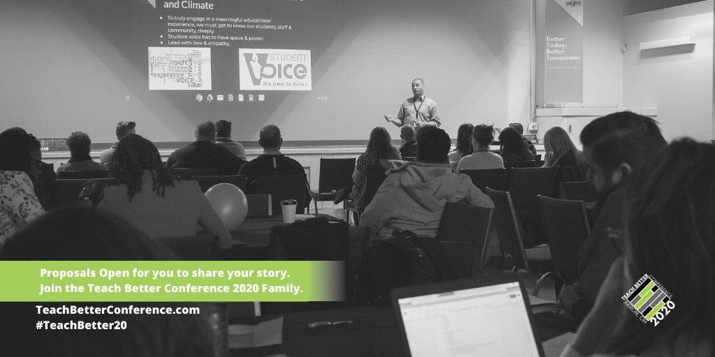 Session Submissions are open for educators to submit a proposal to share their story at #TeachBetter20. These will be open throughout the month and into May. We hope this helps! Details at  & please continue to reach w/ questions. #TeachBetter19