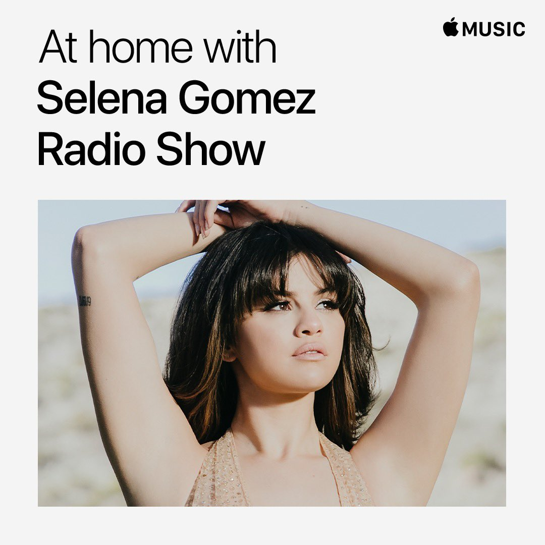 On tomorrow's show, our guest @selenagomez handpicks the songs for the full two hours and we nerd out about music. It's a good one. Join us at 9am PT 🕘 12pm ET 🕛 and 5pm GMT 🕔 @Beats1 @AppleMusic https://t.co/otRUxj7AZX #AtHomeWithAppleMusic https://t.co/w84wgFHPWR