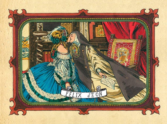 """Fundación Iguales on Twitter: """"La supuesta historia de amor entre la poetisa Sor Juana Inés de la Cruz y la virreina María Luisa Manrique de Lara es ampliamente conocida. Acá ilustradas por"""