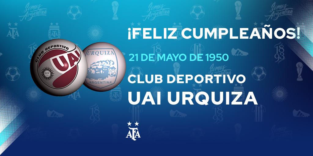 #FelizCumple para @clubuaiurquiza, que hoy celebra un año más de vida. ¡Felicidades! 🎉🎁