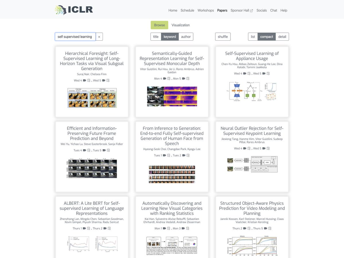 Im really enjoying the new #ICLR2020 website, and am having fun browsing the workshop & poster talks. Congrats to the organizers and speakers on whats happening so far in this all-virtual conference! Great job! @srush_nlp @shakir_za @kchonyc @dawnsongtweets @syhw et al.