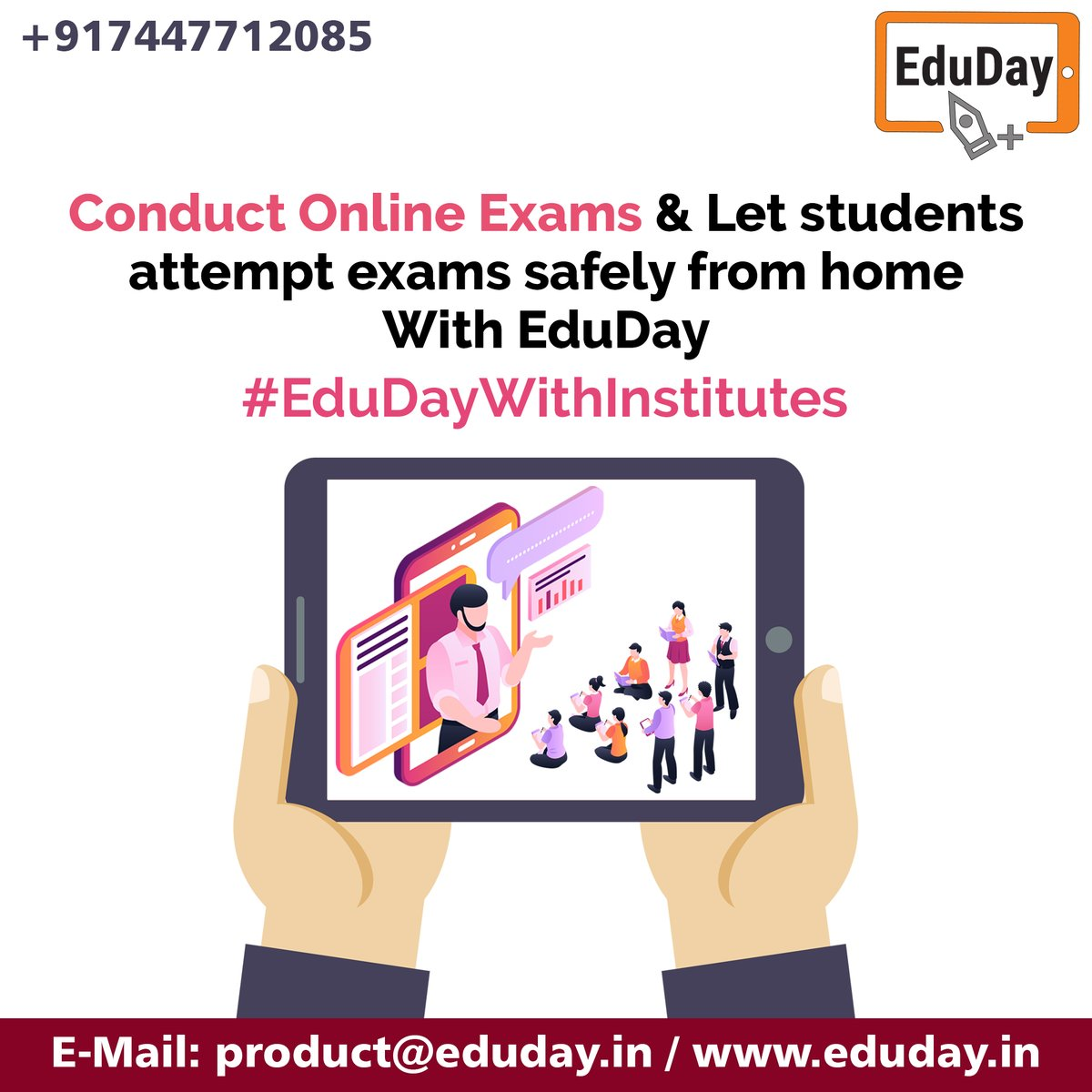 Transform Teaching, Inspire Learning and Deliver a world-class Student Experience.  Get in touch to know more:- Phone : +91 7447712085 E-Mail: product@eduday.in visit:- http://www.eduday.in  #eduday #edudayindia #pune #india #tab #tablets #CoachingInstitute #Coachingclassesspic.twitter.com/CxY6rqmWyv