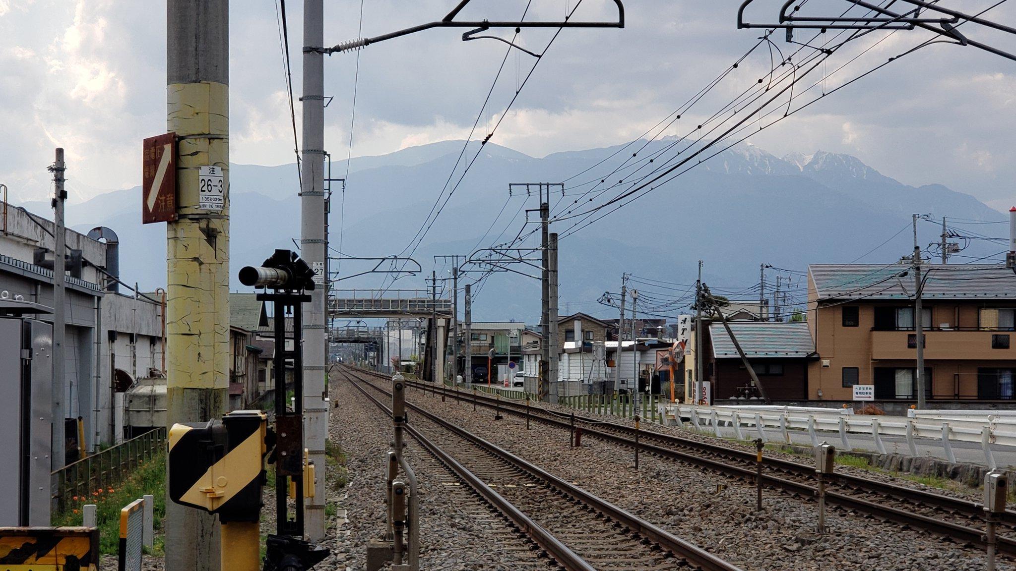 中央本線の竜王駅~甲府駅間の踏切で人身事故が起きた画像