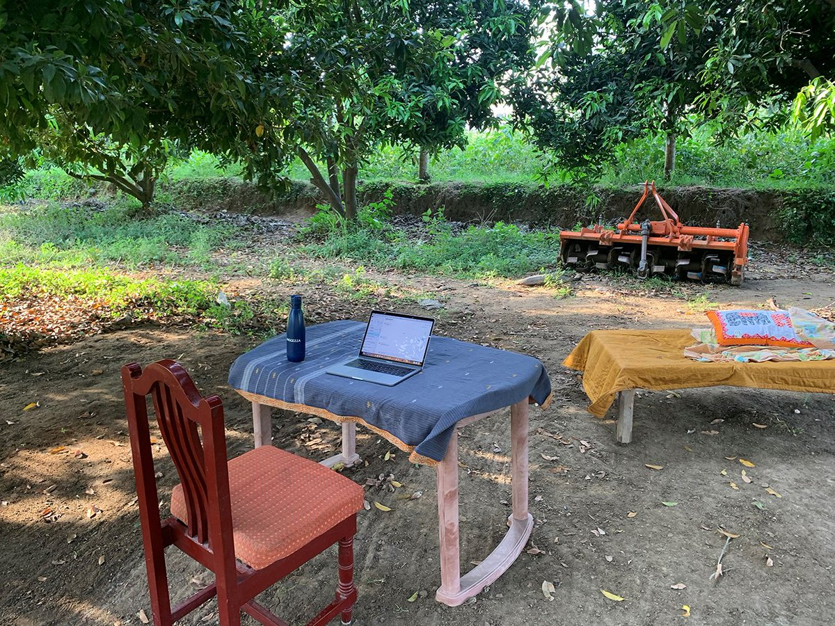 This week's working from home picture comes from Vijay Konduru, who's taken his office into the great outdoors... #WFH #workingfromhome