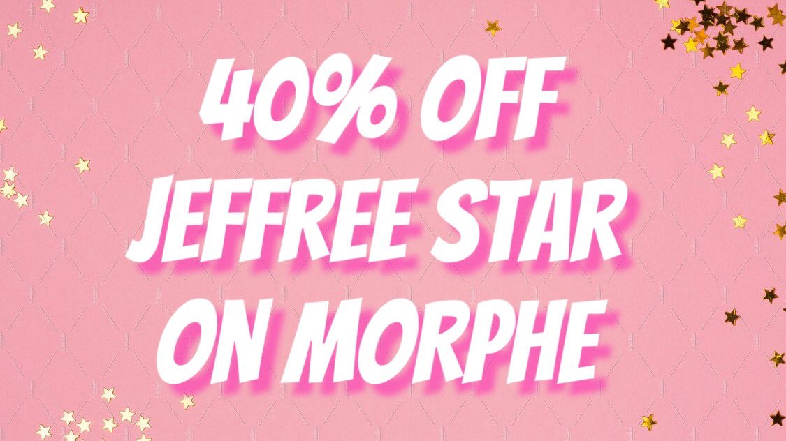 Fashion Discount Codes A Twitteren Jeffree Star Morphe Discount Code Get 40 Off Jeffree Star Products On Morphe Just Click Here To Shop Https T Co G9opi6pyi5 Use The Discount Code Gimmestar Jeffreestar Morphe are offering you 20% off your order. twitter