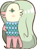 妖怪 アマビエ イラスト 踊る アマビエ 日本の妖怪 キャラクター