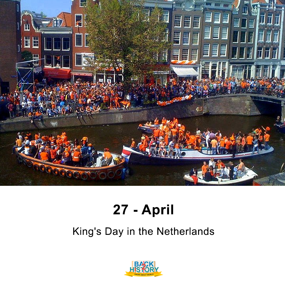 27 - April - King's Day in the Netherlands. . . #History #WorldHistory #KingsDay #netherlands #HistoryofNitherland #NitherlndsHistory #Historymemes #WorldhIstoryMemes #Back_2_history #Back2History #backtohistorypic.twitter.com/ONqITJ7oc8