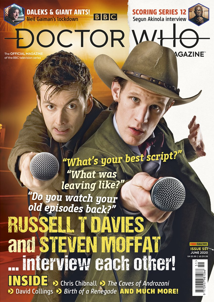 David Tennant on the cover of issue 551 of Doctor Who Magazine