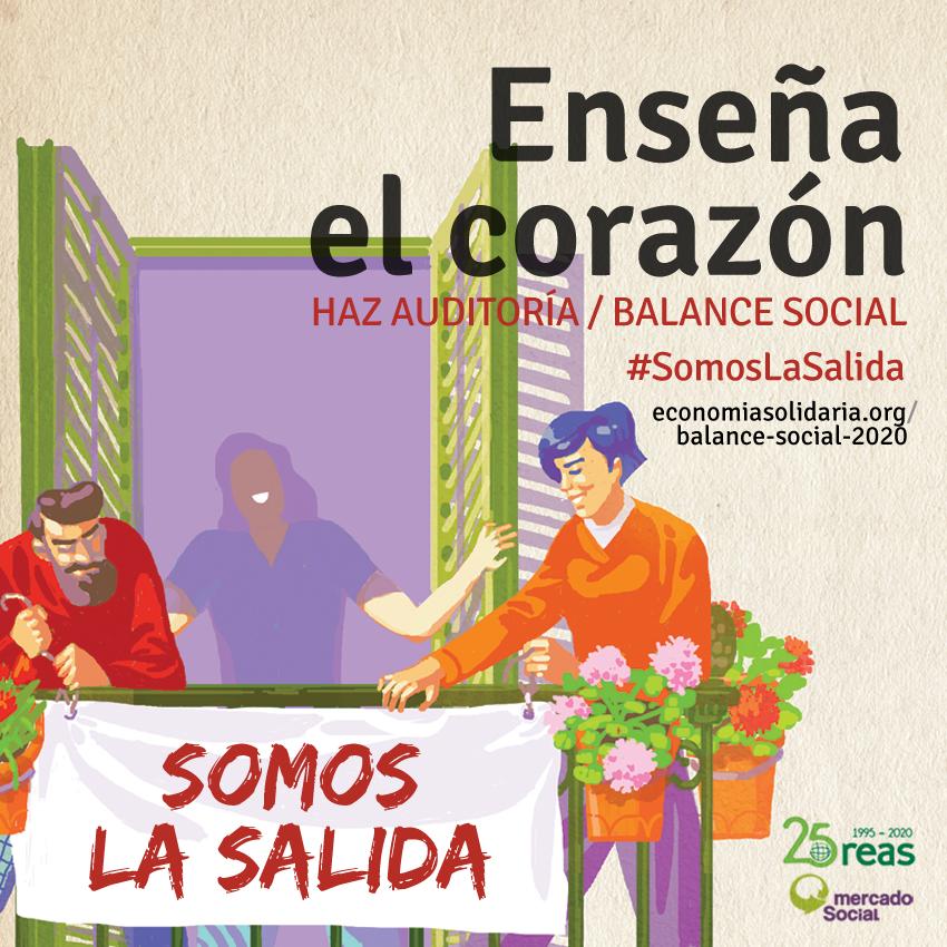 Las empresas de la #EconomíaSolidaria recordamos que #SomosLaSalida a esta crisis del #COVID19 y el capital, y lo mostramos haciendo balance social. Compartimos hilo para explicarlo 👇  https://t.co/uwwp1dUIeG https://t.co/5D2EPrEcvW
