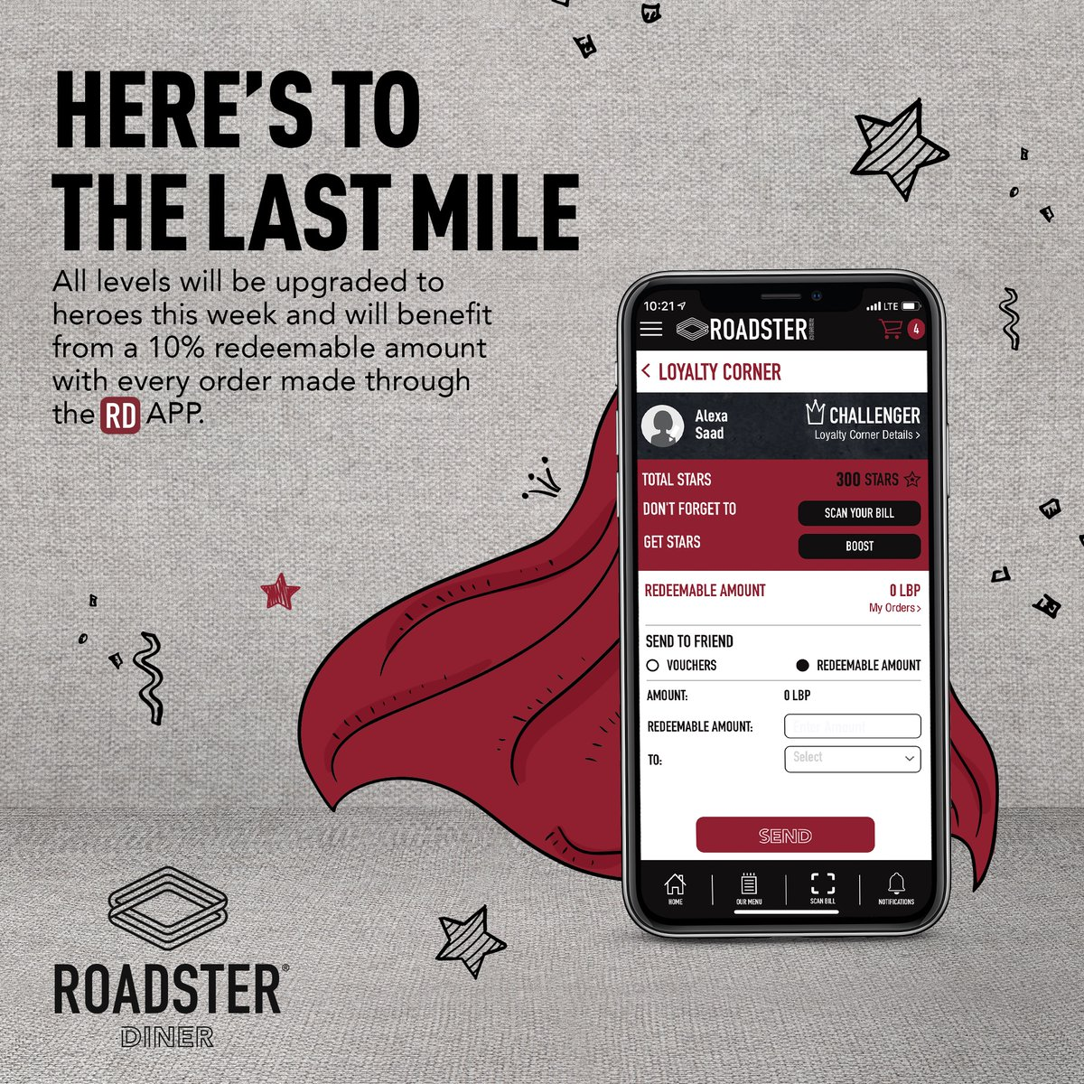 Here's to the last mile, stay home, stay safe...And enjoy 𝗛𝗲𝗿𝗼 𝘀𝘁𝗮𝘁𝘂𝘀 on our app, we're almost there 🤩! Order from the RD APP and get 10% redeemable amount with every order excluding the RD Favorites combo meals. #RDAPP #StaySafe https://t.co/20VofnnsMM
