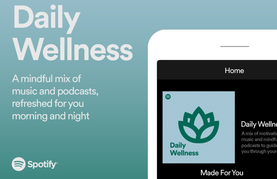 Spotify launches a Daily Wellness mix to fuel your self-care routines