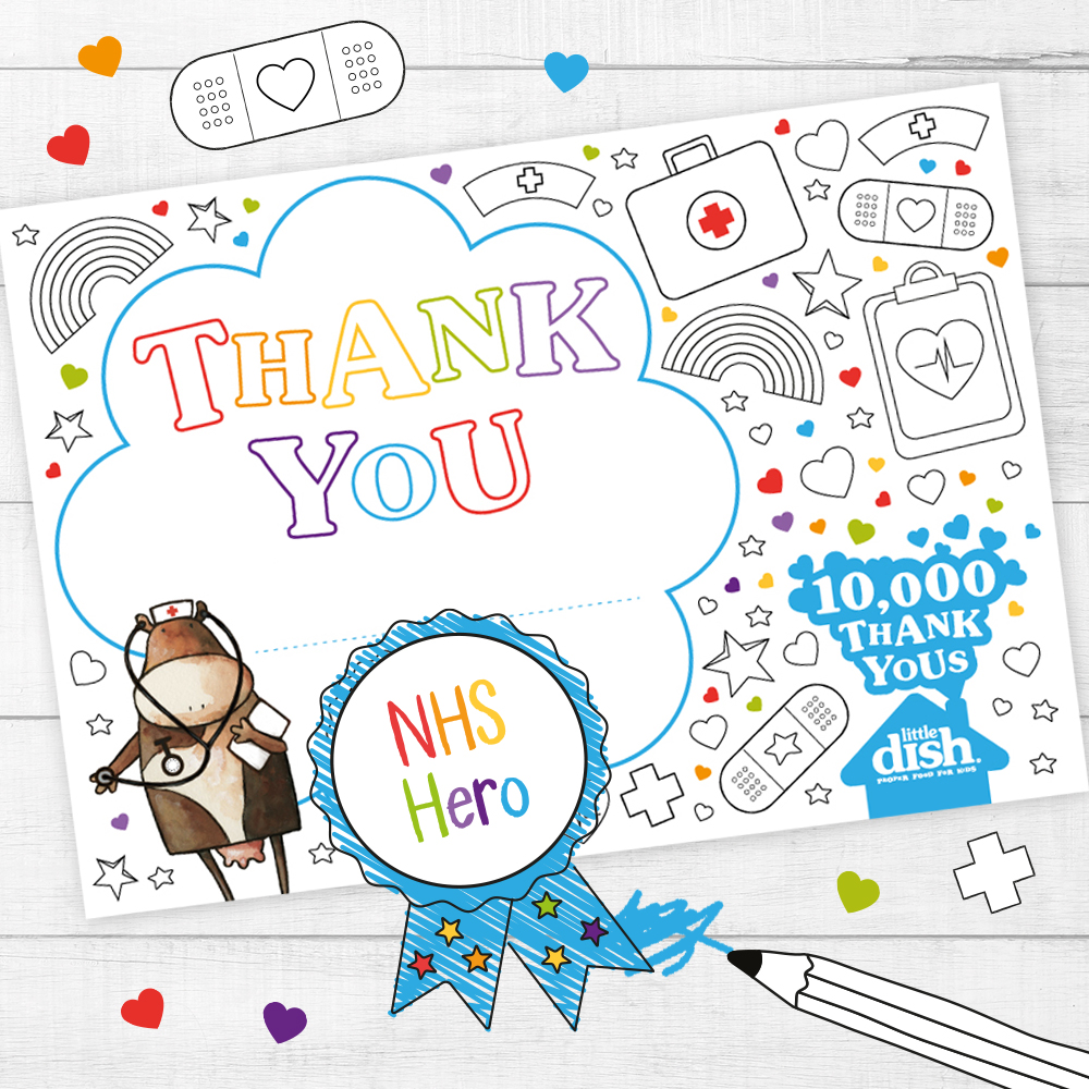 We're asking families to create & share Thank You messages to our frontline heroes.❤️Download a Thank You card, colour it in and share your message using #10000thankyous and tag @littledish We'll share your messages to celebrate our amazing #keyworkers 🌈 https://t.co/6B6e3Fx6fU https://t.co/raI3jwKl5O